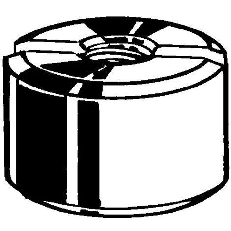 Schlitzmutter M5 Automatenstahl verzinkt DIN 546 Schlitz 100 Stk