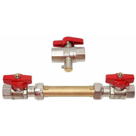 Schlösser Einbausatz 3/4'' f. Wärmezähler Wärmemengenzähler Qn 1,5 und Qn 0,6 für Direktmessung DN20