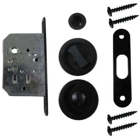 Schlosskit für Pantry-Tür - abschliebar - schwarz