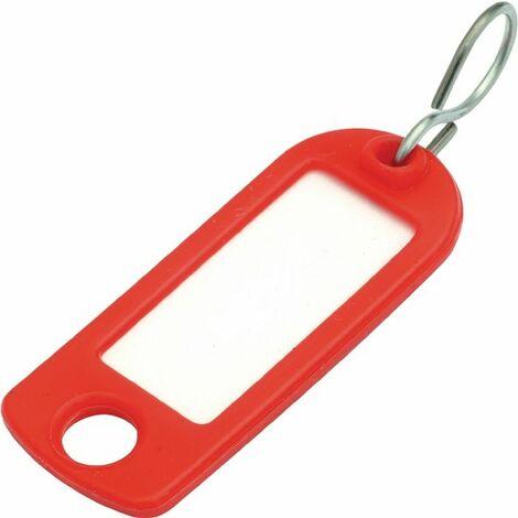 Schlüsselanhänger gelb Weichplastik m.S-Haken