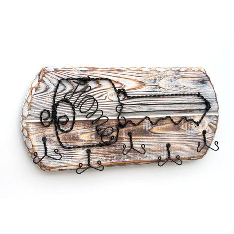 Schlüsselbrett Holz Handmade 1103 Schlüsselboard Schlüsselhaken Schlüssel Home