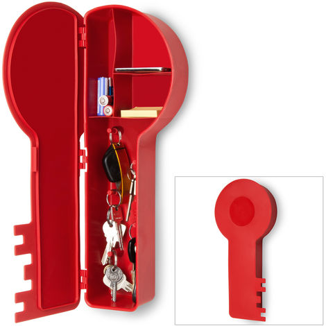 Schlüsselkasten in Schlüsselform weiß