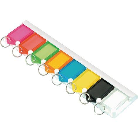 Schlüsselleiste 8160L8 natur mit 8 Anhängern natur zum Ankleben oder -schrauben