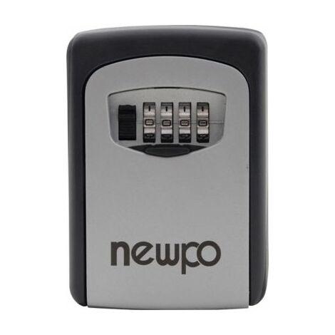 Schlüsseltresor | Zahlenschloss 4-stellig | HxBxT 122 x 87 x 40 mm | newpo Safe