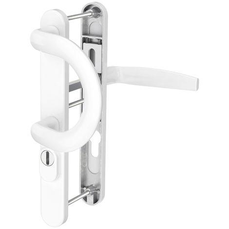 Schmalrahmengarnitur Wechselgarnitur 92mm mit Kernziehschutz Weiß Dr/Bü
