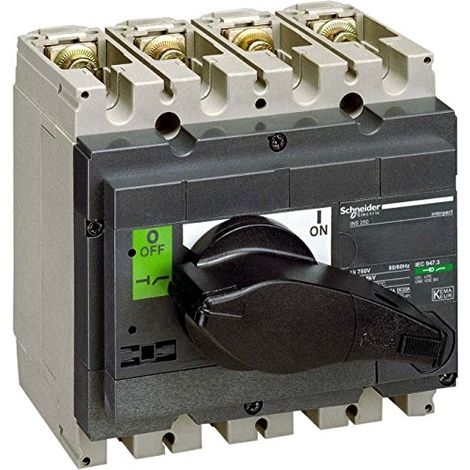 SCHNEIDER ELECTRIC 31103 COMMUTATEUR EN CHARGE, BARRETTE, COUPURE INTERPACT INS250, 4 P, 200 A