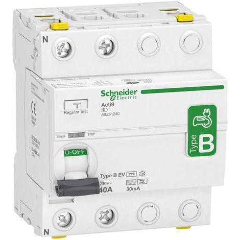 Schneider Electric A9Z51240 40A Single Phase 2 Pole 30mA Type B RCD