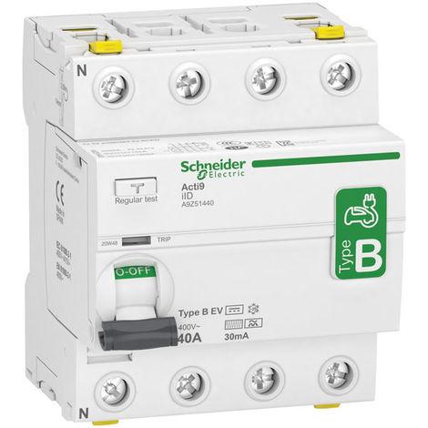 Schneider Electric A9Z51440 40A Three Phase 4 Pole 30mA Type B RCD