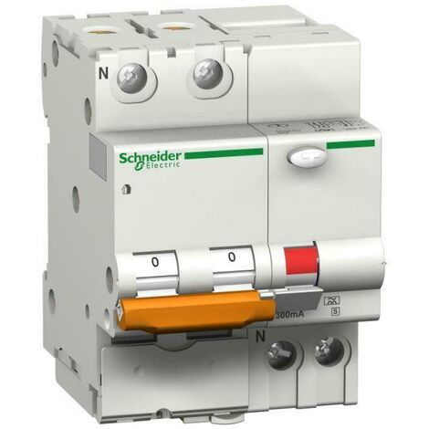 """main image of """"Schneider electric disjoncteur a courant residuel domc45 1p+n c 20a 30ma ac type domc45c2030c"""""""