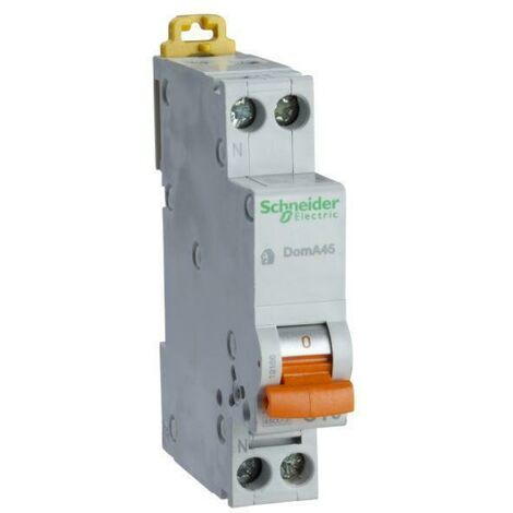 """main image of """"Schneider electric disjoncteur doma45 1p+n c 10a doma45c10"""""""