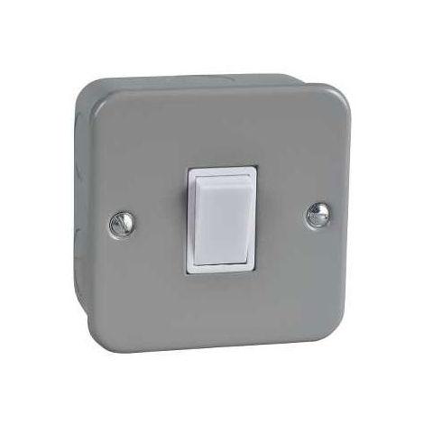 Schneider Electric GMC1012 Metal Clad Light Switch 1 Gang 2 Way