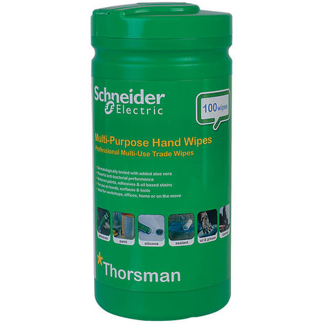 Schneider Electric IMT23035 Thorsman Multi-Purpose Hand Wipes - Pack Of 100