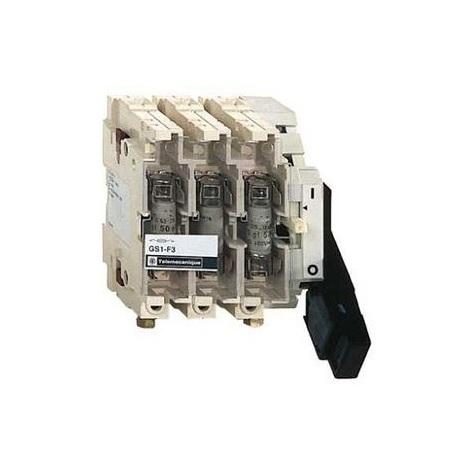 SCHNEIDER ELECTRIC TELEMECANIQUE GS1 JD3 - BLOC DE BASE INTERRUPTEURSECTIONNEUR FUSIBLE GS1 3P 3 F NFC 100 A