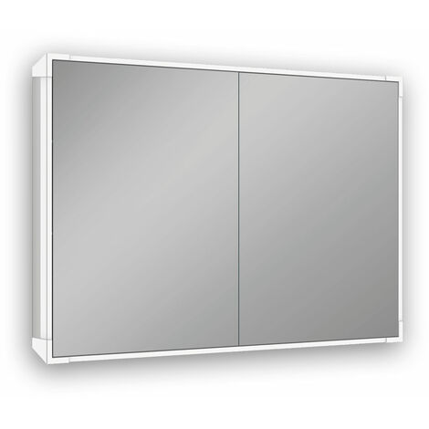 Schneider mirror cabinet A-line LED 166.080, A15 80/2/LED, 80x73,4x15,8cm, illumination top and bottom, execution: EU standard with handles - 166.080.02.50