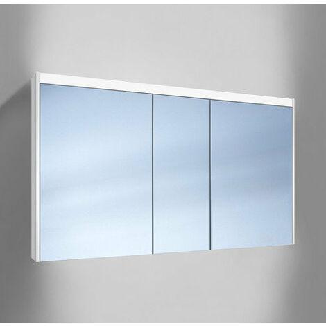 Schneider O- Line Armoire de toilette LED 012 130/3/LED, 3 portes, éclairage dessus, Exécution: CH standard sans poignées - 164.131.01.02