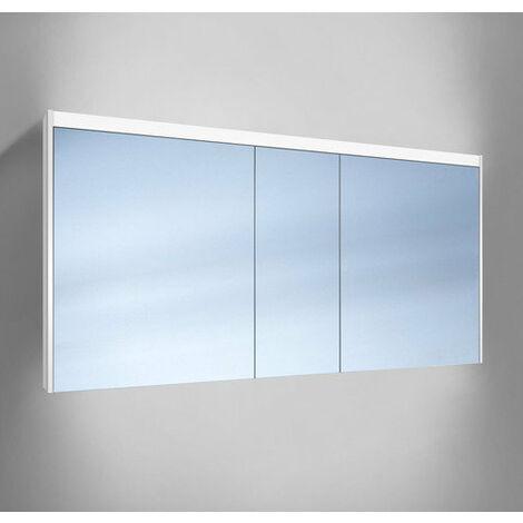 Schneider O- Line Armoire de toilette LED 012 150/3/LED, 3 portes, éclairage haut, Exécution: Norme UE sans poignées - 164.150.02.02