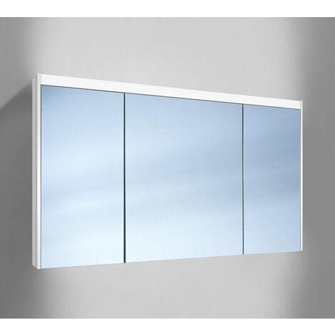 Schneider O- Line Armoire de toilette LED 015 130/3/GT/LED, 3 portes, éclairage en haut, Exécution: CH standard sans poignées - 165.132.01.02