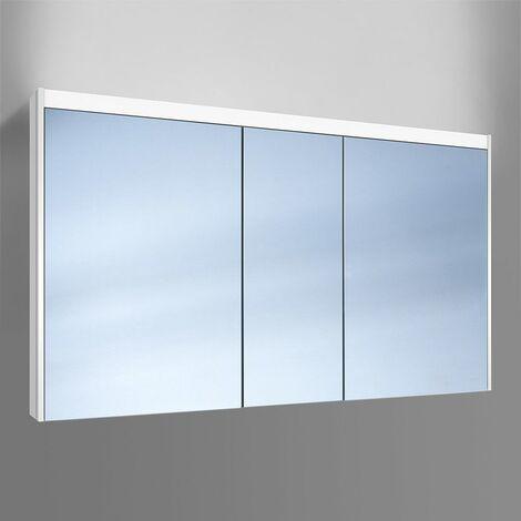 Schneider O- Line Armoire de toilette LED 015 130/3/LED, 3 portes, éclairage en haut, Exécution: Norme UE sans poignées - 165.131.02.02
