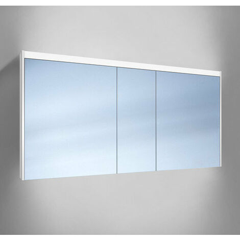 Schneider O- Line Armoire de toilette LED 015 150/3/LED, 3 portes, éclairage haut, Exécution: CH standard sans poignées - 165.150.01.02