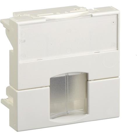 Schneider VDI88140 - Actassi - support non-adaptable 45x45mm blanc polaire - volet incolore