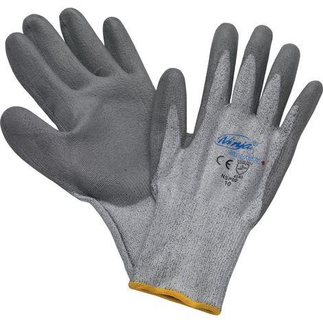 Schnittschutzhandschuhe G.10 grau m.PU-Beschichtung EN388