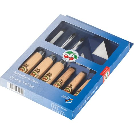 Schnitzwerkzeug-Satz 3201/3208/3239/3351/3353/3356/3707 7-tlg. im Verkaufskarton