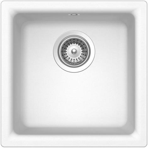 Schock Lavello cucina bianco 1 vasca senza gocciolatoio incasso Euro N100007