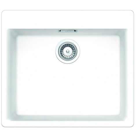 Schock Lavello cucina bianco 1 vasca senza gocciolatoio incasso Vero  N100LA99