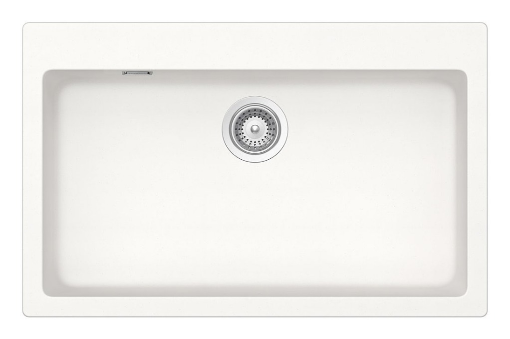 Schock Lavello cucina bianco puro una vasca rettangolare 79x50x20cm  N100XLA99