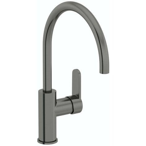 Schon Aaron C spout gunmetal kitchen mixer tap