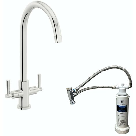 Schon C spout WRAS kitchen tap with complete filter kit
