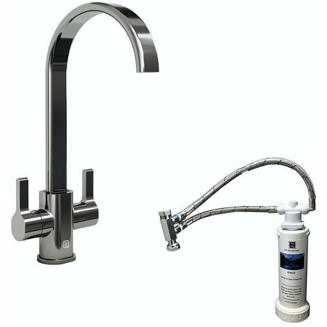 Schon Canna U spout kitchen tap with complete filter kit