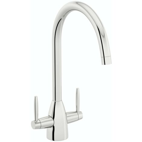 Schon dual lever kitchen tap