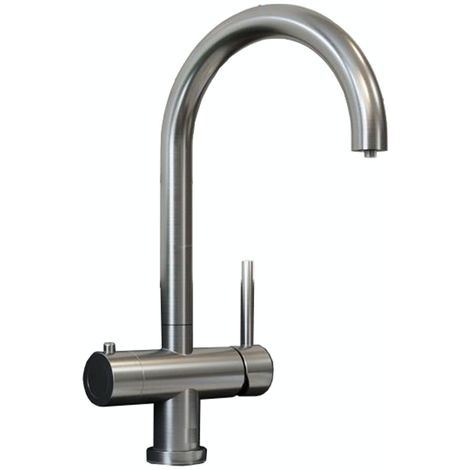 Schon Ramsey brushed nickel 3 in 1 boiling water kitchen tap
