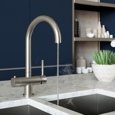 Schon Ramsey brushed steel 4 in 1 boiling water kitchen tap