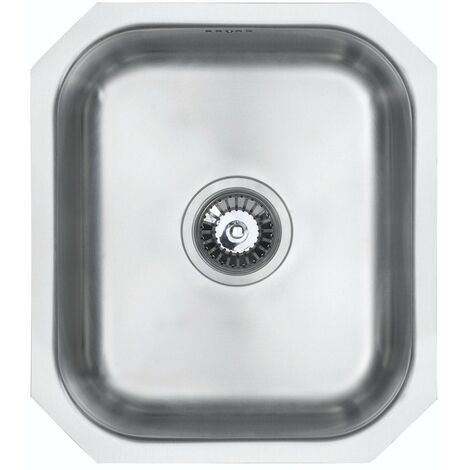 Schon Rydal classic compact undermount single bowl stainless steel kitchen sink with waste 380 x 440