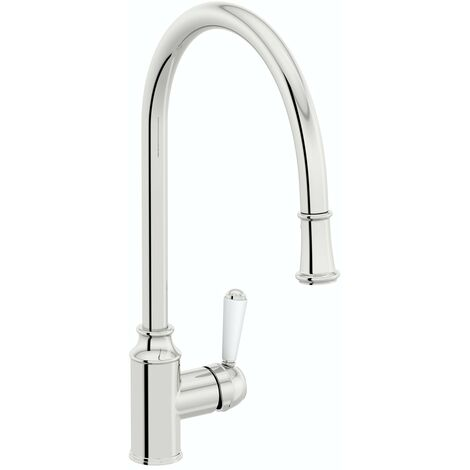 Schon Skomer traditional pull down kitchen mixer tap