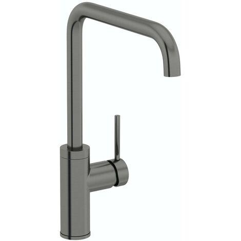 Schon Skye L spout gunmetal kitchen mixer tap