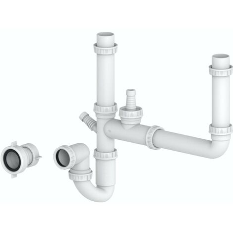 Schon universal kitchen sink double bowl plumbing kit