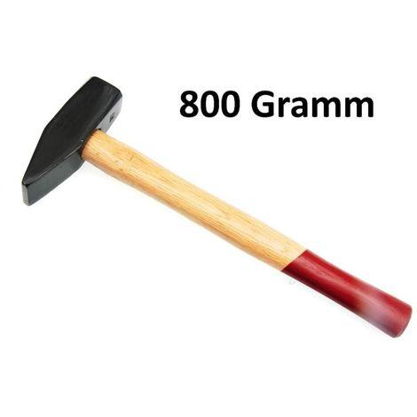 Schonhammer 800 g Schlosserhammer Holzstiel Hammer Schlegel Vorschlaghammer