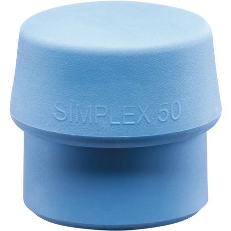 Schonhammerkopf D. 40mm Simplex lose TPE blau/weich