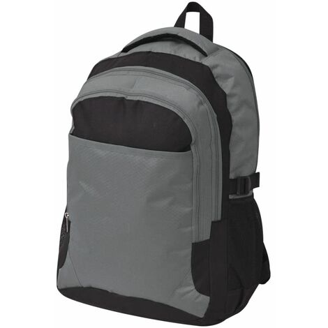 School Backpack 40 L Black and Grey