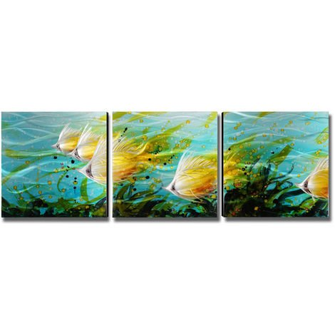 School of fish Wall paintings Home decoration 3 colorful