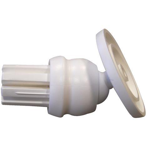 Schrägwandadapter 'Vario' weiß Ø 25 mm