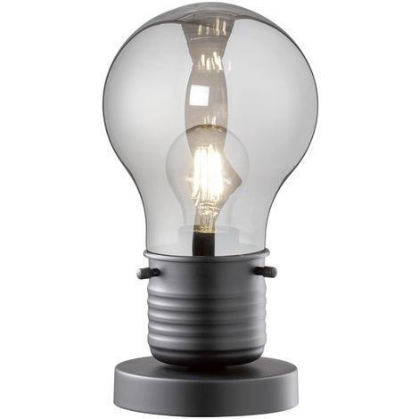 Schreib Nacht Tisch Lampe Glühbirnen-Design schwarz-matt Industrie-Stil Lese Leuchte FH-Lighting 850069