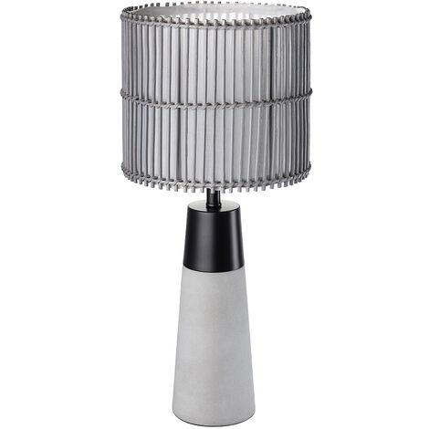 Schreib Nacht Tisch Lampe Metall Leuchte Schwarz Matt Bambus Beton Beleuchtung