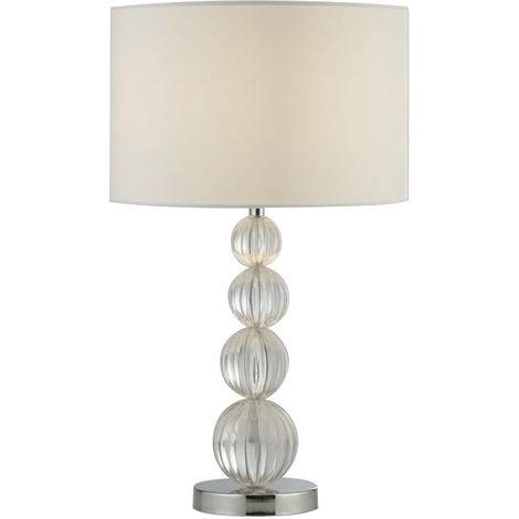 Schreib Tisch Lampe Wohn Zimmer Lese Beistell Stoff Leuchte silber im Set inkl. LED Leuchtmittel