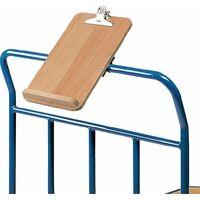 Schreibtafel HO m.Papierklammer u.Stiftablage f.Plattformwagen DIN A4 hoch