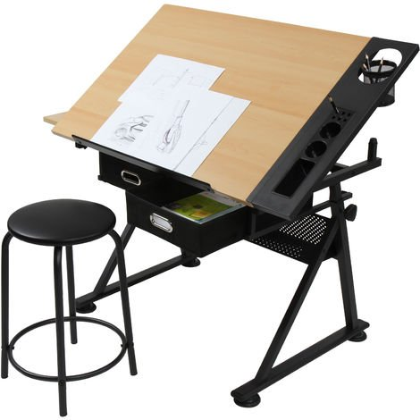 Schreibtisch Architektentisch Zeichentisch hoehenverstellbar Arbeitstisch