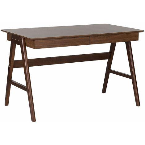 Schreibtisch Braun 120 x 70 cm 2 Schubladen Modernes Design